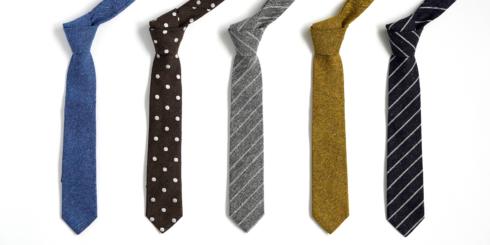 羽田忠織物のネクタイ