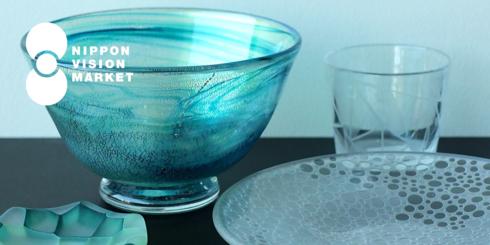富山ガラス工房の器