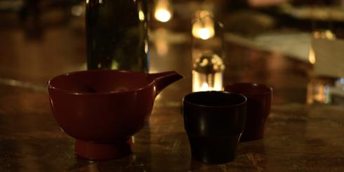 d食堂 in 二戸(2)漆器で地酒を愉しむ