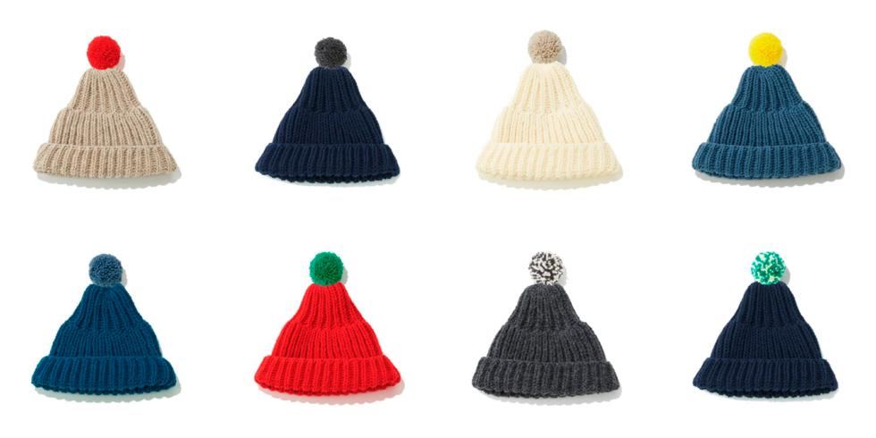 気仙沼ニッティングのポンポン帽子の販売会