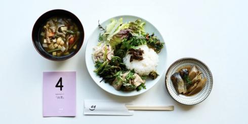 dたべる研究所「山菜」ランチメニュー