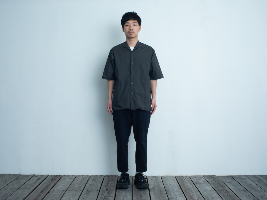 d 207 SIDE POCKET SHIRTダークグレー