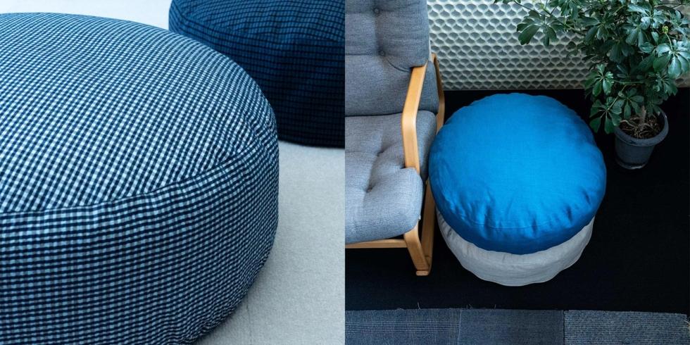 低く座る暮らし FIBER ART STUDIOのクッションチェア